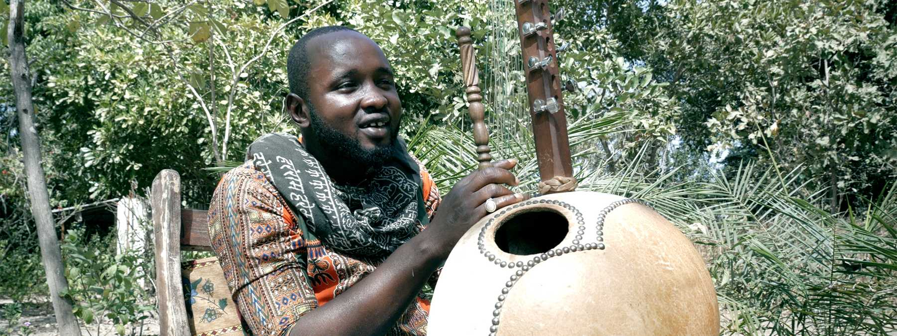 Mafu Conteh, kora virtuoso from The Gambia